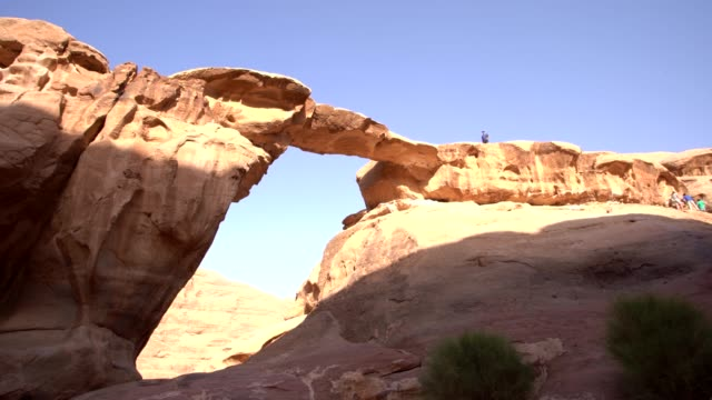 wadi rum - sandstone desert landscape, beautiful sandstone forms - outcrop stock videos & royalty-free footage