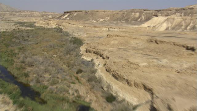 AERIAL WS Wadi Zin, Negev Desert, Negev, Israel