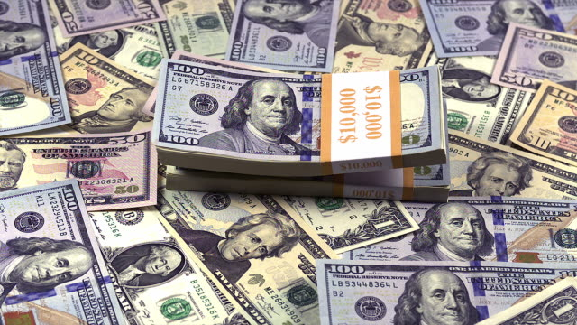 """wads of us dollar banknotes falling, slow motion"" - bundle stock videos & royalty-free footage"