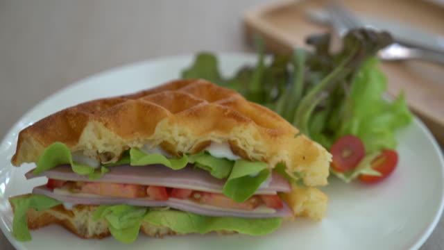waffle ham cheese sandwich