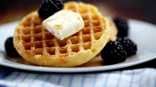 waffles! - butter stock videos & royalty-free footage