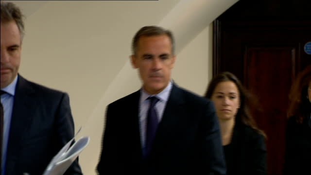 Wage increases outstrip inflation for first time in five years Various shots Mark Carney into room with others at Bank of England press conference