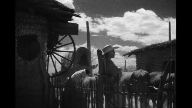 vídeos y material grabado en eventos de stock de wagon train passes by - cultura estadounidense