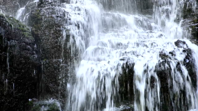 wahkeena falls trail waterfall detail - columbia river gorge stock videos & royalty-free footage