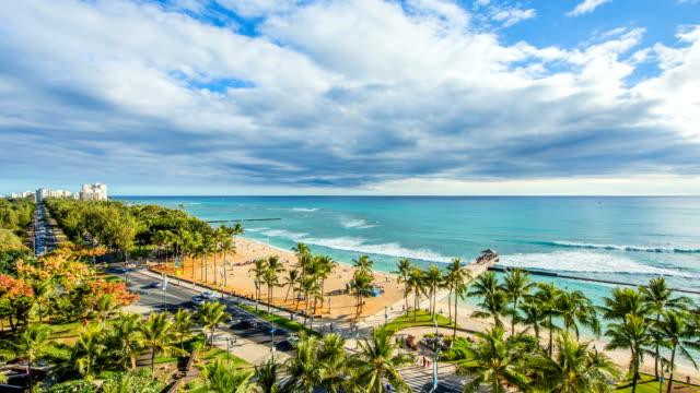 waikiki beach / honolulu, hawaii, united states - oahu stock videos & royalty-free footage