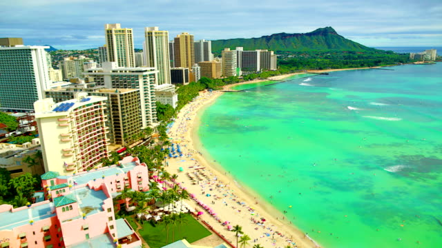 waikiki beach - hawaii islands stock videos and b-roll footage