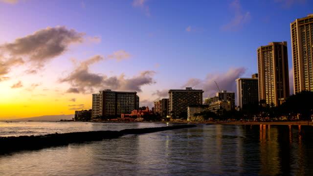 waikiki beach - oahu stock videos and b-roll footage