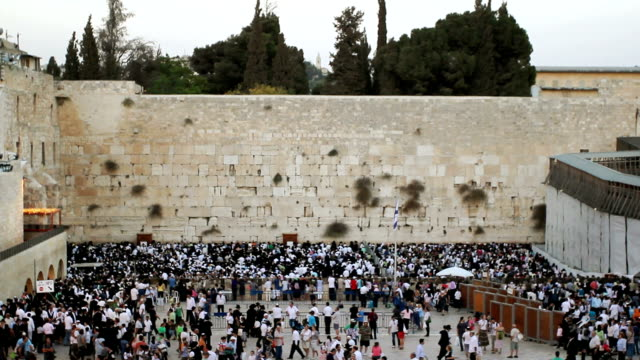wailing wall in jerusalem - jerusalem stock videos & royalty-free footage