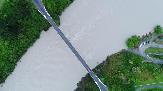 Waimakariri river over flowing after rain.