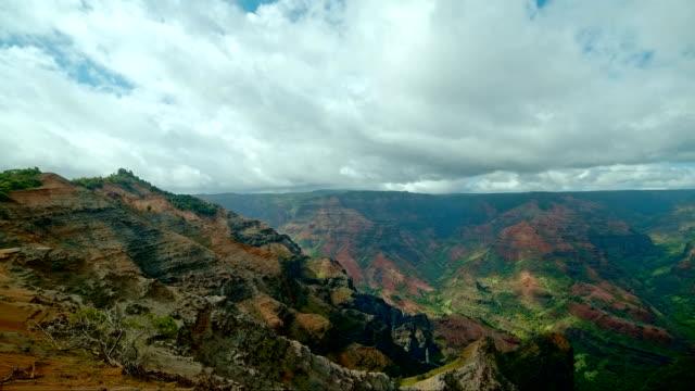 waimea canyon kauai hawaii  time lapse - kauai stock videos & royalty-free footage