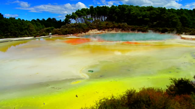 waiotapu thermal park - quellwasser stock-videos und b-roll-filmmaterial
