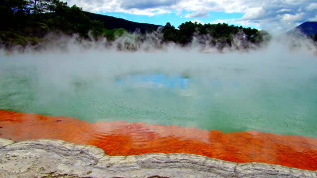 waiotapu thermal park - thermal pool stock videos & royalty-free footage