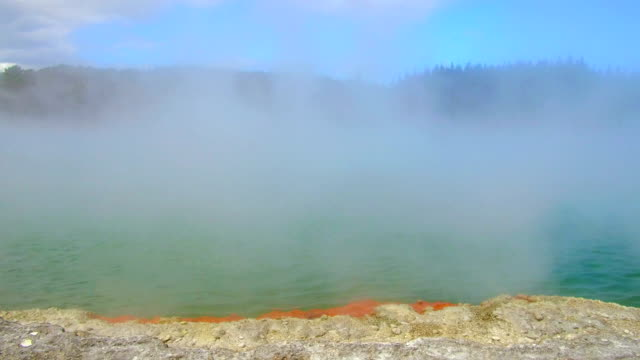 waiotapu thermal park - north island new zealand stock videos & royalty-free footage