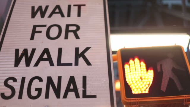 Wait for walk signal in Time Square