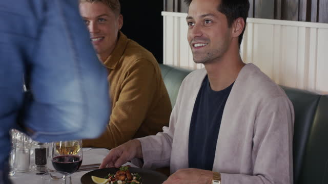 waiter serving customers at table - boyfriend stock videos & royalty-free footage
