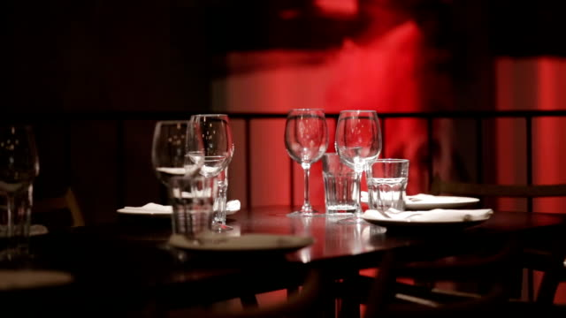 waiter setting the table in restaurant - setting the table stock videos & royalty-free footage