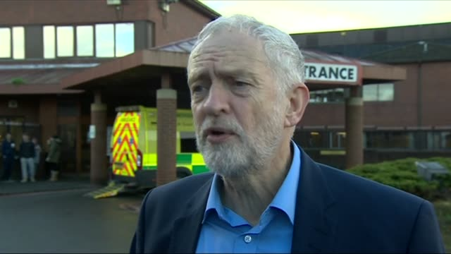 AE waiting times in Wales are worst since March and well below target Corbyn visit to Lincoln County Hospital ENGLAND Lincolnshire Lincoln EXT Jeremy...