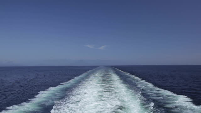 wake behind large ship - large stock videos & royalty-free footage