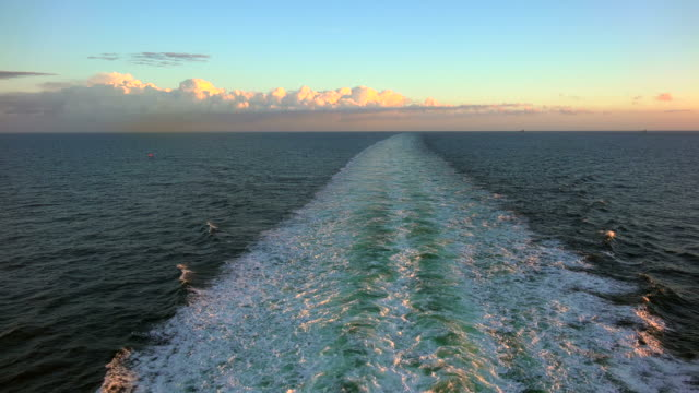 wake of a cruise ship - baltic sea stock videos & royalty-free footage
