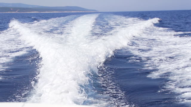hd super slow mo: wake of a motor boat - motorboat stock videos and b-roll footage
