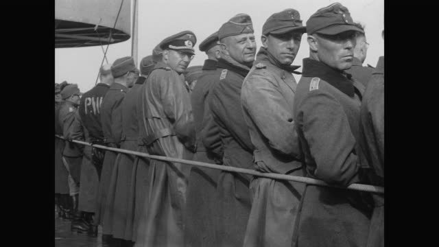 wakefield returns from europe packed with german prisoners of war - prisoner of war stock videos & royalty-free footage