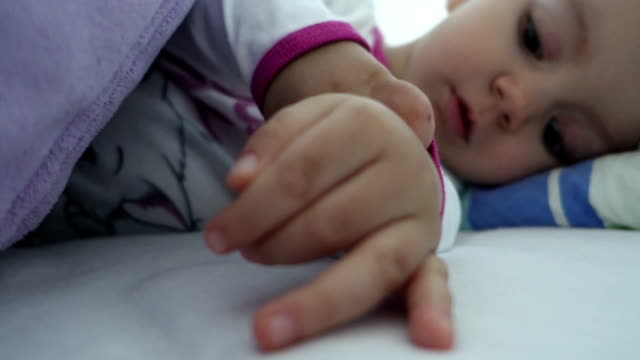 waking baby - one baby girl only stock videos & royalty-free footage