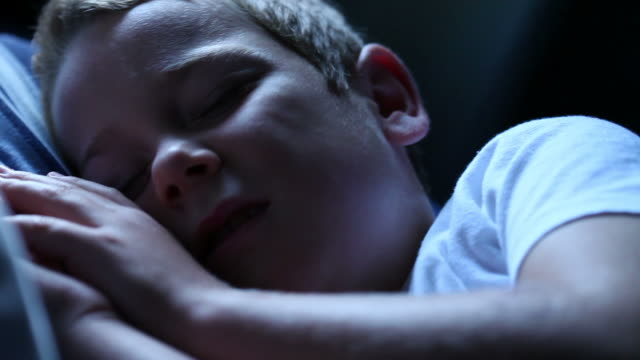 waking little boy - sleeping stock videos and b-roll footage