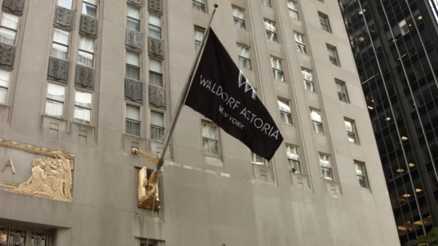 Waldorf Astoria flag shot on October 06 2014 in New York City Hilton Worldwide is selling the Waldorf Astoria New York to Chinese insurance company...