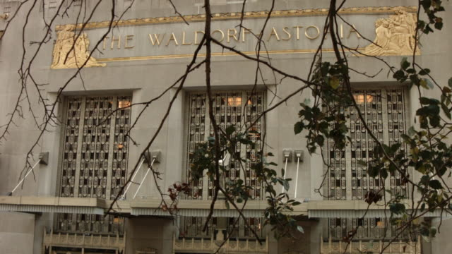 Waldorf Astoria Hotel exterior shot on October 06 2014 in New York City Hilton Worldwide is selling the Waldorf Astoria New York to Chinese insurance...