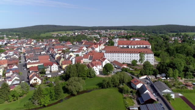 waldsassen and its monastery in north bavaria - monastery stock videos & royalty-free footage