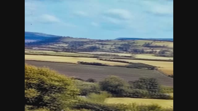 wales countryside landscape from above - cloudscape stock videos & royalty-free footage