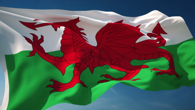 4K Wales Flag - Loopable