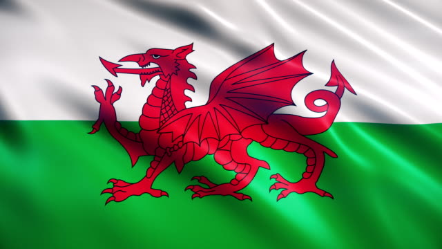 wales flag - wales stock videos & royalty-free footage