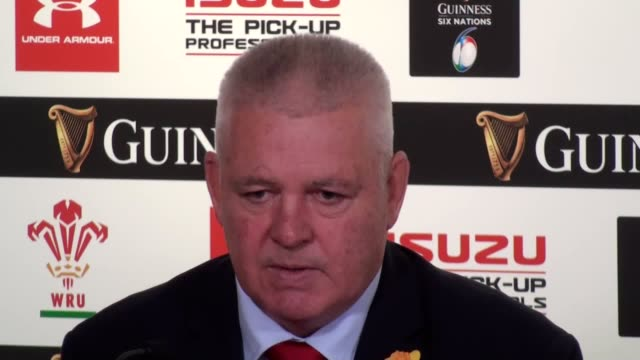 Wales head coach Warren Gatland and captain Alun Wyn Jones press conference after the victory against England