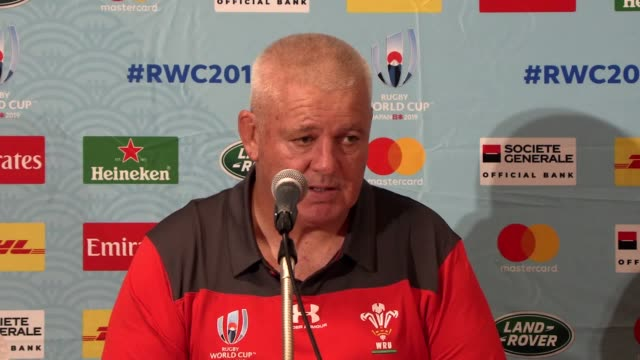 wales head coach warren gatland reacts to former player gareth thomas' announcement that he is hiv positive and also discusses the squad's... - sports team stock videos & royalty-free footage