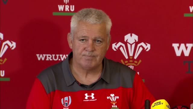 wales head coach warren gatland says he believes he has a team capable of lifting the webb ellis cup as he announces his 31man squad for the 2019... - try scoring stock videos and b-roll footage