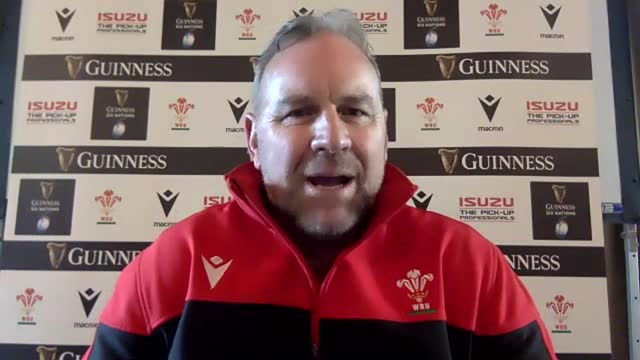 wales head coach wayne pivac at a virtual press conference following his team announcement for sunday's guinness six nations game against ireland. he... - manager stock videos & royalty-free footage