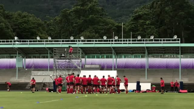 wales in training before france game stephen jones says that wales' 2011 world cup semifinal defeat against france will produce great fuel for... - oita city stock videos & royalty-free footage