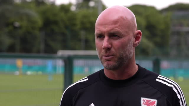 """wales manager robert page saying him and the team """"want to continue this journey"""" as they take on denmark in their euro 2020 second round match - journey stock videos & royalty-free footage"""