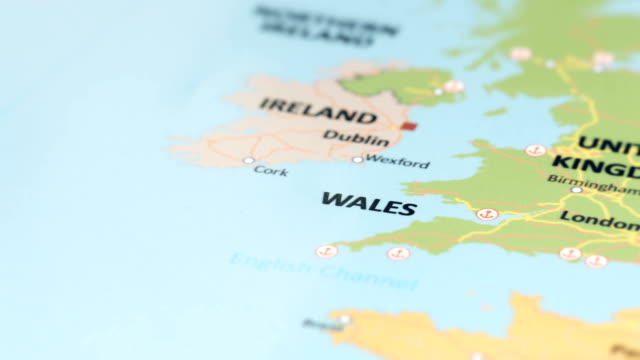 europe wales on world map - wales stock videos & royalty-free footage