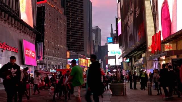 H&M, Walgreens shop and time Square