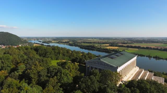 Walhalla Memorial Above The Danube River Flyover