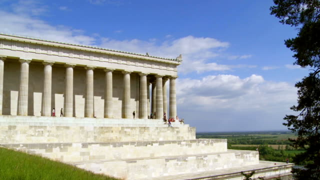 walhalla memorial in bavaria cinemagraph - neo classical stock videos & royalty-free footage