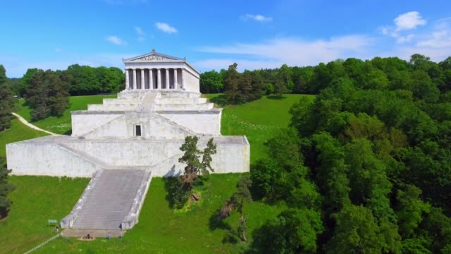 walhalla memorial in bavaria - hall of fame stock videos and b-roll footage