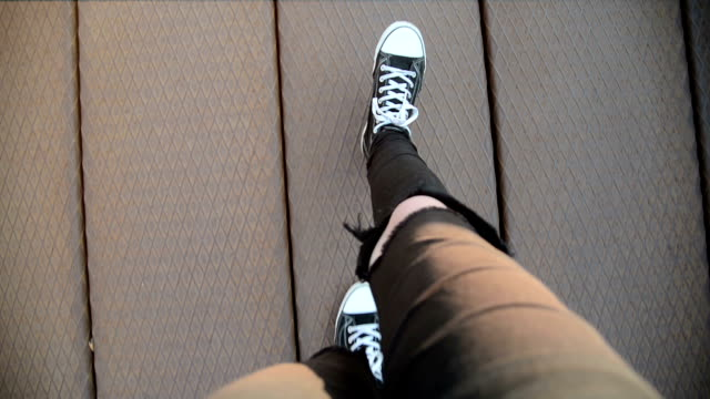 walk, first person view - shoe stock videos & royalty-free footage
