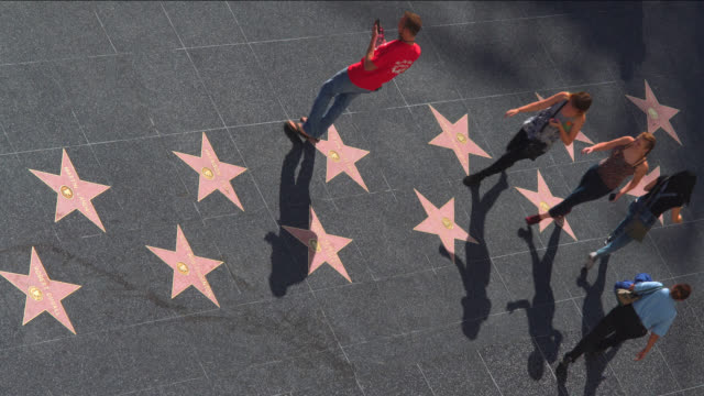 vidéos et rushes de walk of fame - hollywood boulevard