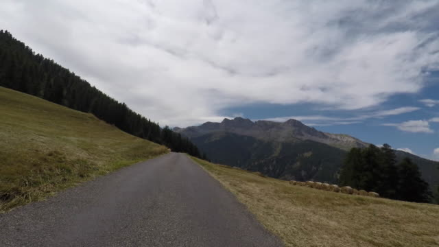 walk on a mountain road