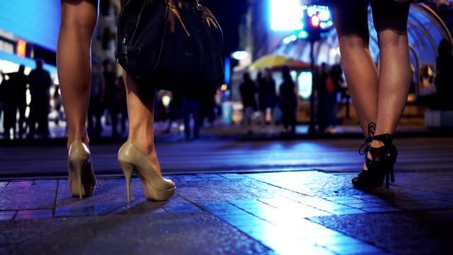 Walk on high heels