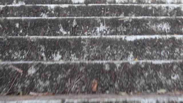 古いコンクリート階段の上を歩きます。 - steps and staircases点の映像素材/bロール