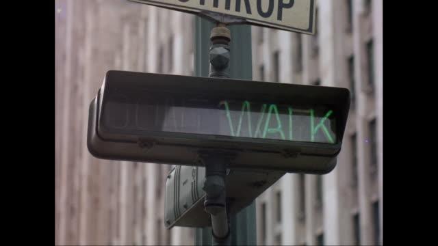 cu walk signal / united states - walk don't walk signal stock videos and b-roll footage